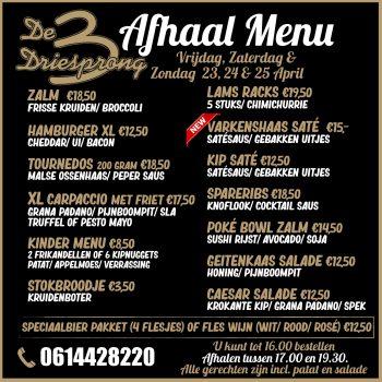 afhaal menu 5.0